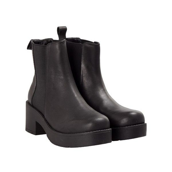 WINDSOR SMITH Eager leather ankle boots (3.315 UYU) ❤ liked on Polyvore featuring shoes, boots, ankle booties, black, leather ankle bootie, leather ankle boots, short black boots, ankle boots and leather boots