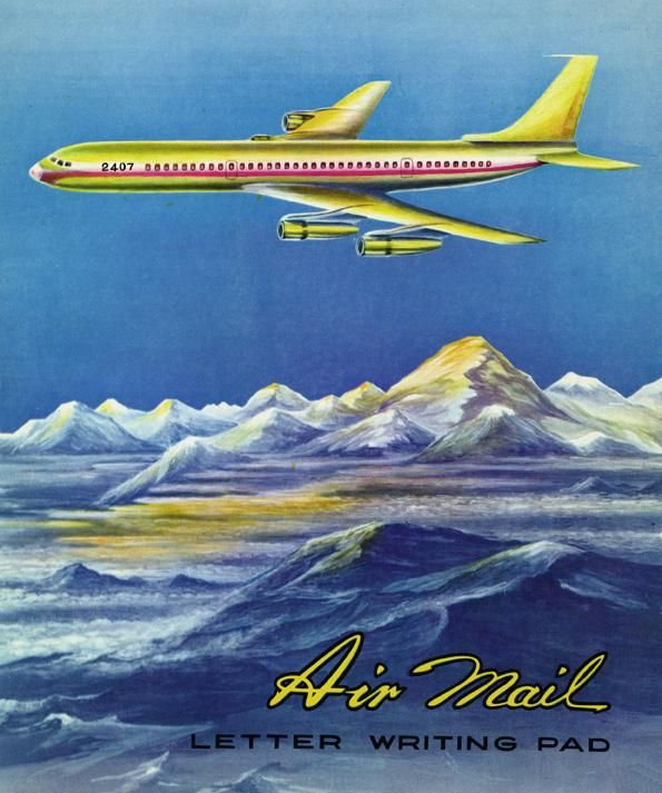 Air Mail writing pad. El Aeroplano food coloring.  via @valorie_fisher