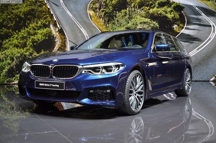 Genf 2017: BMW 5er Touring mit M Sportpaket in Mediterranblau