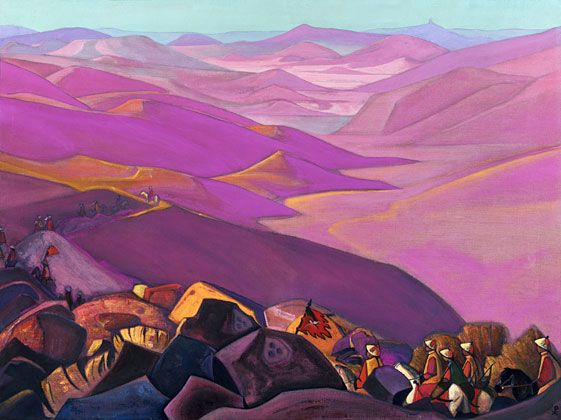 Nicholas Roerich - Mongolia (Campaign of Genghis Khan)