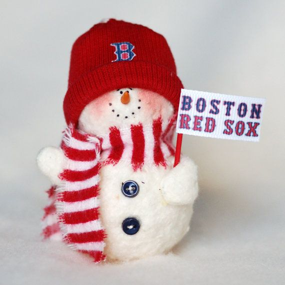 Boston Christmas Tree Delivery: Boston Red Sox Snowman Ornament