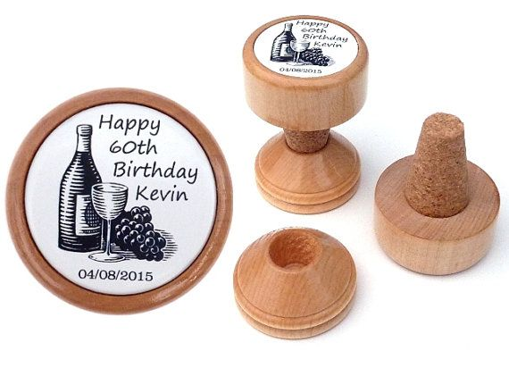 WINE STOPPER | Personalised 60th Birthday gift idea for Him, Husband, Boyfriend, Men, Dad, Brother, Grandpa | 60 th Birthday present