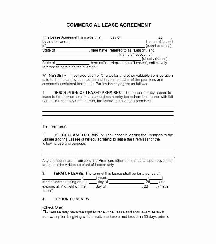 Free Printable Commercial Lease Agreement New 26 Free Mercial Lease Agreement Templat Lease Agreement Rental Agreement Templates Lease Agreement Free Printable