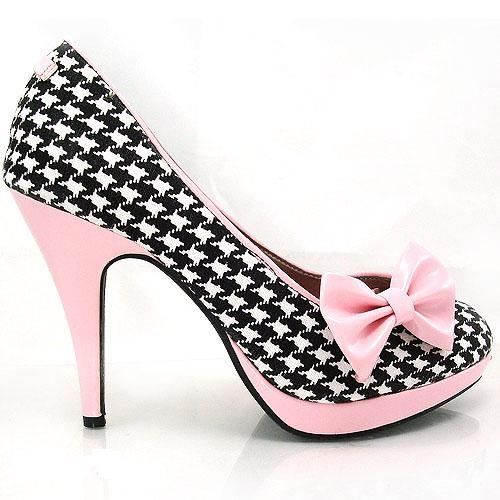 houndstooth, pink, and bows... I <3 these!!!