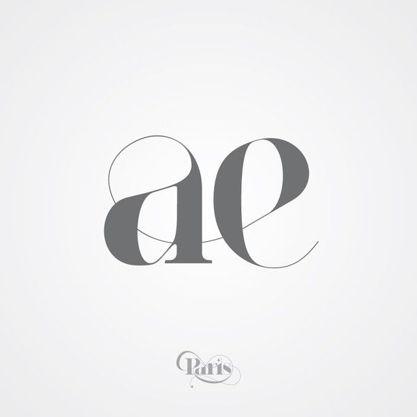 "Paris ""ae"" ligature. by Moshik Nadav (http://www.moshik.net/) #typography #ligatures"