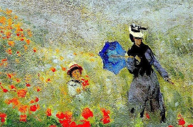 "CLAUDE MONET ""Wild Poppies"" 1873"