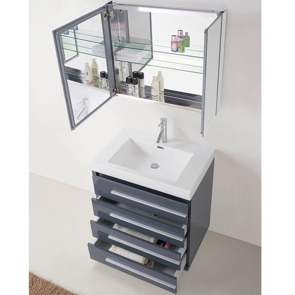 Virtu USA Bailey 30 Inch Grey Single Sink Bathroom Vanity   Overstock™  Shopping