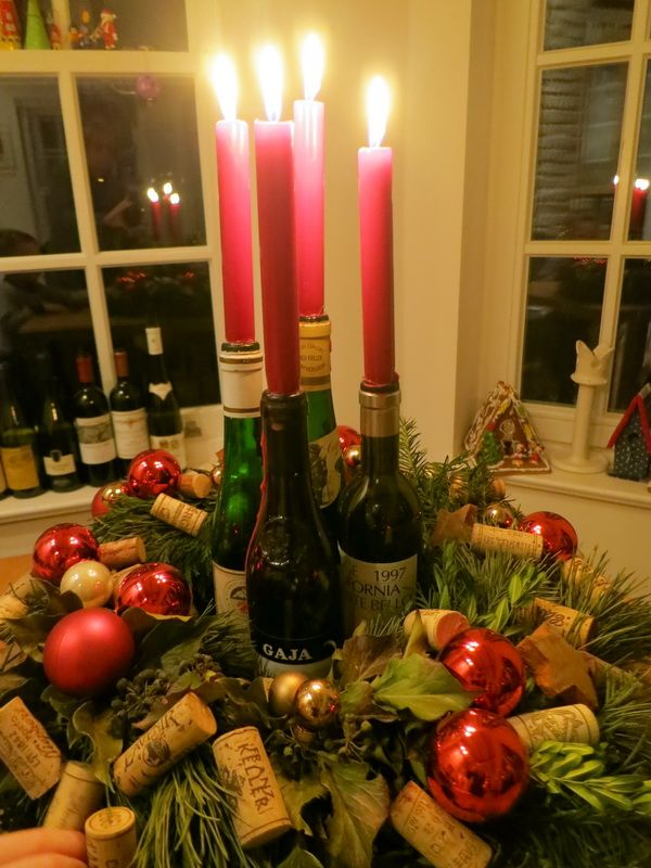 #Adventskalender mit #Weinflaschen, ein echter Hingucker!