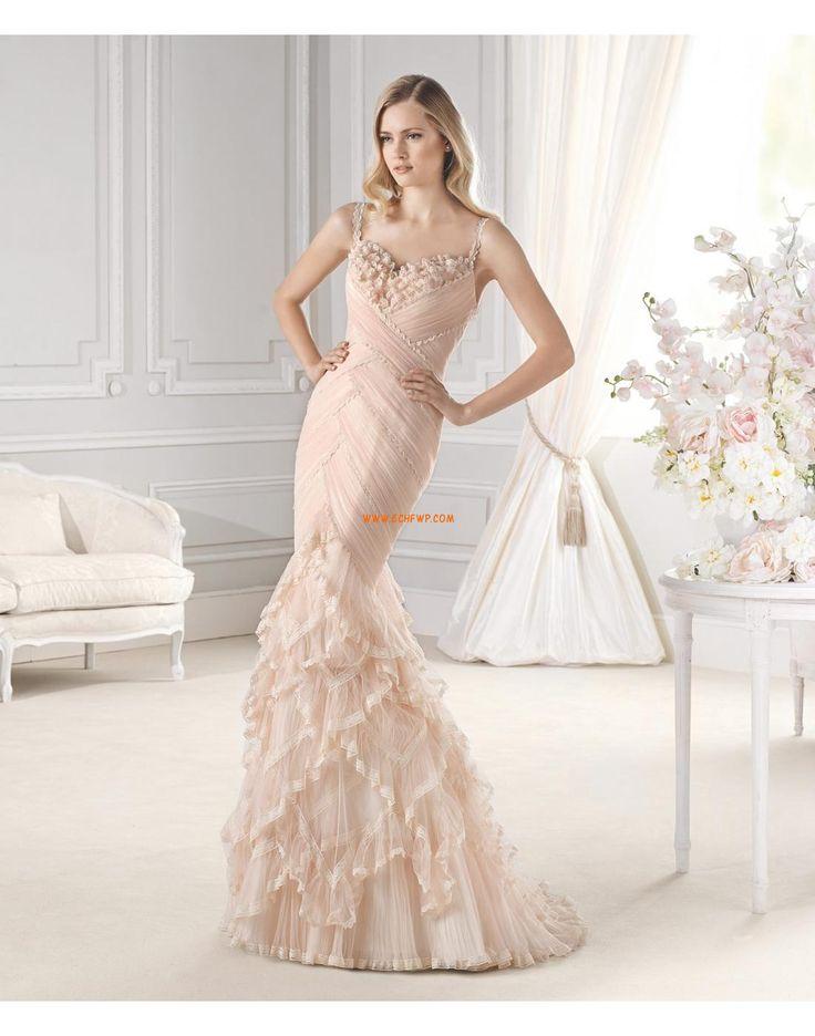 Hasta el Suelo Escote Corazón Elegante Vestido de Novia 2015
