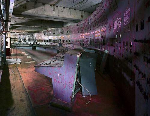 Control Room, Reactor 4, Chernobyl, 2001 by Robert Polidori