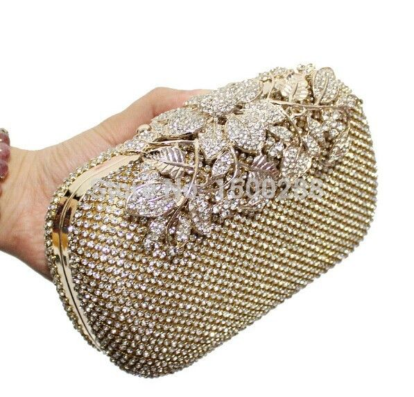 Diamond Flower Crystal Evening Bag Clutch //Price: $37.38 & FREE Shipping // #shop #clutch #bagsdesigns