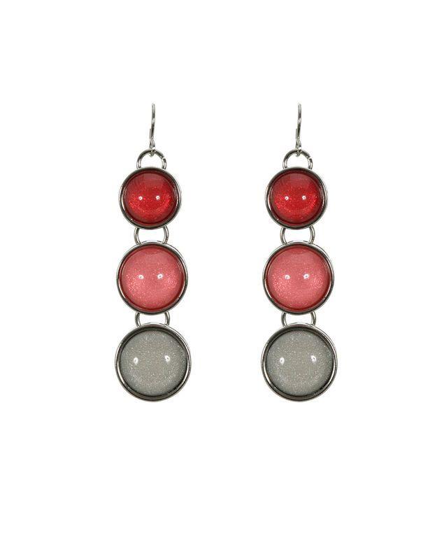 Round Stone Pendant Earring, Coral/Rhodium #loverickis #rickisfashion #rickis #instantoutfit #instantOOTD #spring #spring2017 #springfashion