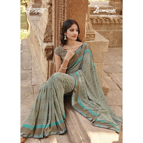 Get exclusive collection of multicoloured georgette #JacquardSaree only @ #LaxmipatiSarees http://bit.ly/25NJK9y