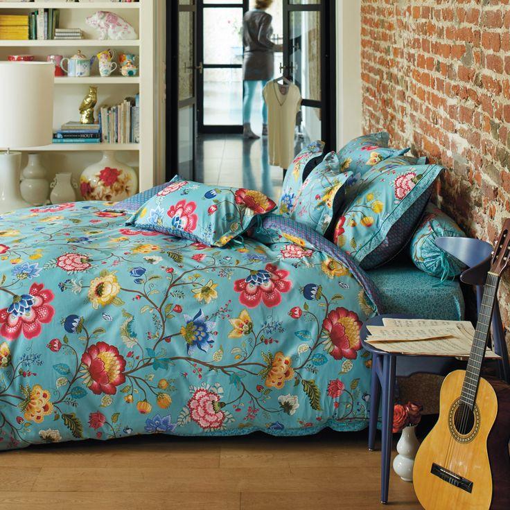 pip studio bettw sche floral fantasy blau bettw sche. Black Bedroom Furniture Sets. Home Design Ideas