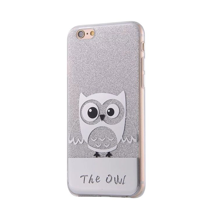 Cute Bling Glitter Phone Cases For iPhone 7 Plus iPhone 7 / 6 6S Plus Silicon TPU Back 7 Plus Owl Cartoon Cell Phone Cases Capa