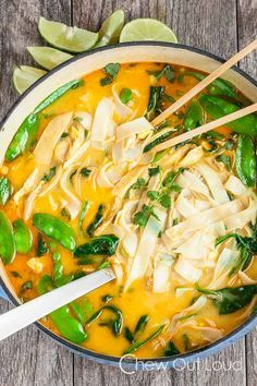Coconut Curry Chicken Noodle Soup - Chew Out Loud