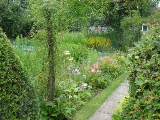 The classic look of a beautiful English cottage garden.