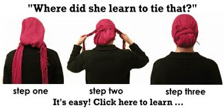 Great guide for learning how to tie a headscarf