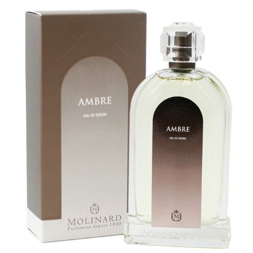 Ambre Perfume by Molinard for Women. Eau De Toilette Spray 3.3 Oz / 100 Ml by Molinard. $25.99. We offer many great sales and discounts making this fragrance cheaper than at department stores.. Ambre Perfume for Women Eau De Toilette Spray 3.3 Oz / 100 Ml. Eau De Toilette Spray 3.3 Oz / 100 Ml for Women. Packaging for this product may vary from that shown in the image above. All our fragrances are 100% originals by their original designers. We do not sell any knockoffs or immita...