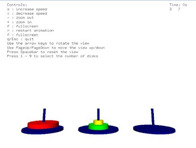 Tower of Hanoi Simulation with the help of OpenGL Computer graphics. You can also choose no of disc for this Tower of Hanoi which have game with better UI.