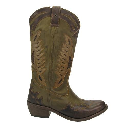 SACHA // Mosgroene Sancho westernboot  €249,95 - Green woman boots