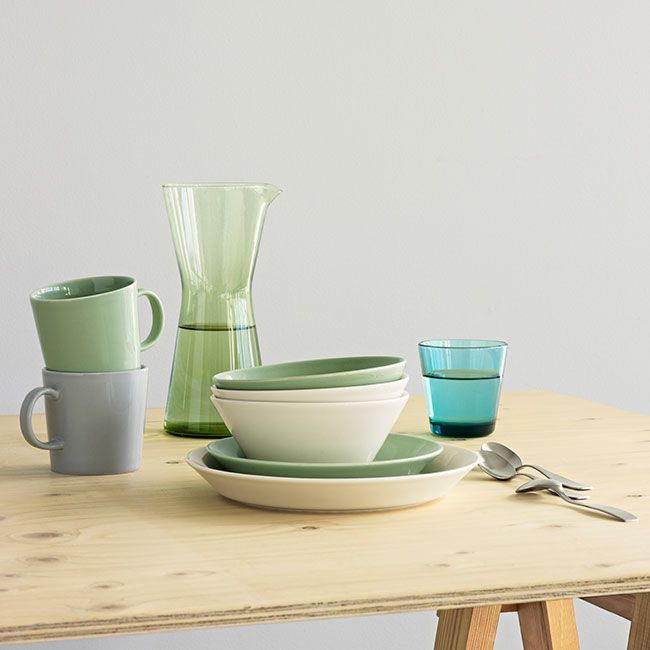An undisputed classic in Scandinavian dinnerware, iittala Teema has new color for Spring! View the iittala Teema Celadon collection at www.FinnStyle.com.
