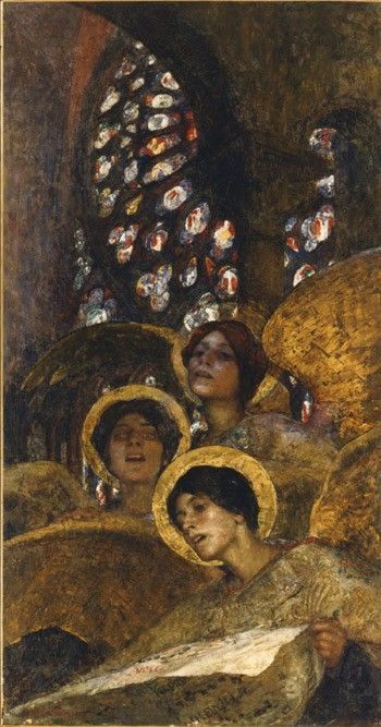 flowerduet:Edgard Maxence, Concert of Angels, 1897                              …