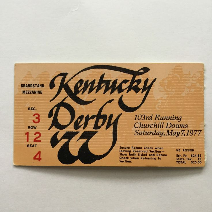 kentucky derby day churchill downs horse racing #vintage ticket stub 1977 from $9.99