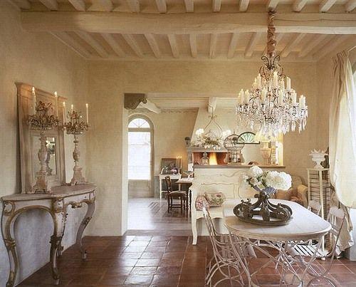 Дизайн интерьера в стиле прованс. #дизайн #интерьер #стиль #прованс #франция #дизайнер #столовая