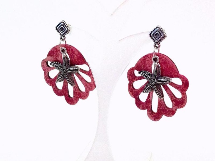 Handmade and hand painted earrings collection Miami by francescaC. http://www.facebook.com/FrancescaC.handmadejewels?ref=hl