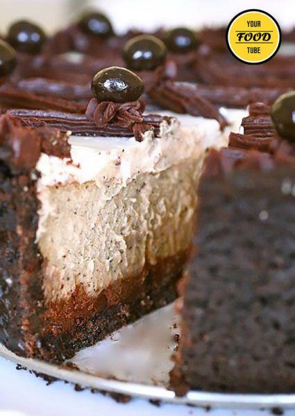 Italian Cappuccino Fudge Cheesecake Recipe - Your Food Tube