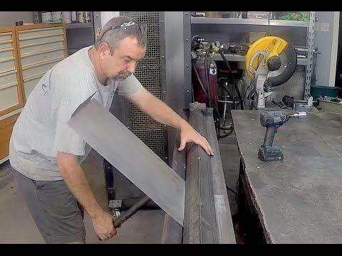 Home made Sheetmetal Brake - Metal Bender - enhancements - YouTube