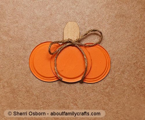 "canning jar lid pumpkin - Finally something to do with all those ""spent"" jar lids"