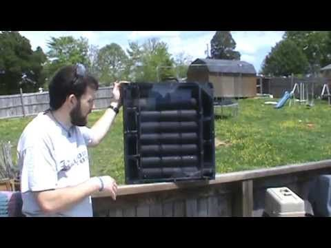 Build your own Solar Powered Portable Solar Air Heater using Recycled Materials | Practical Survivalist