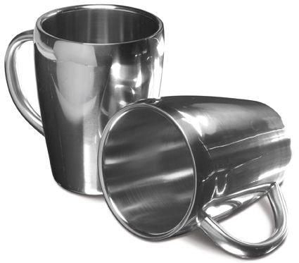 Set Of Two Steel Mugs   UK Corporate Gifts
