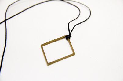 Bronze Necklace Design : Rhombus  Order http://applestozebras.eu/gr/new_stuff/D-058-01/