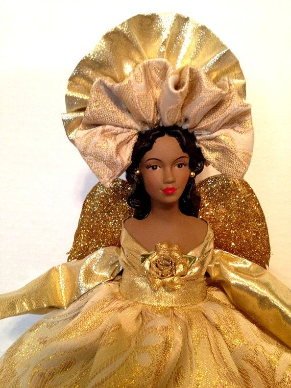 45 best images about angel dolls and tree toppers on pinterest - Black Christmas Angels
