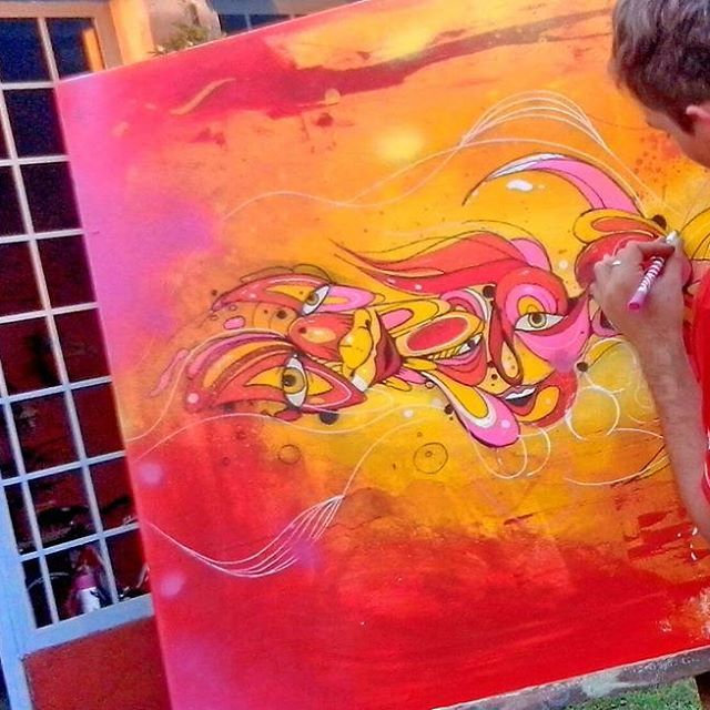 #Art #arte #color #colors #colorful #paint #painting #artist #artista #draw #drawing #dibujo #dibujando #red #rojo #illustration #ilustración #decor #posca #poscagalery #poscapens #schuck