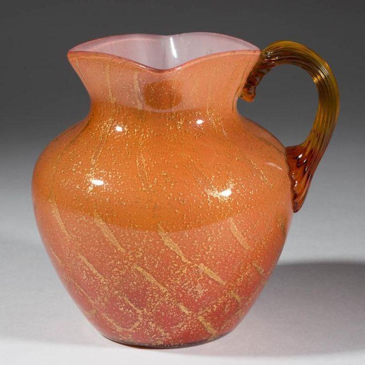 VICTORIAN ART GLASS PITCHER Lot 1223