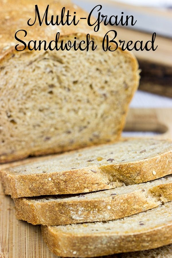A good sandwich starts with good bread, and this Multi-Grain Sandwich Bread is not only good...it's great! | Spiced Blog
