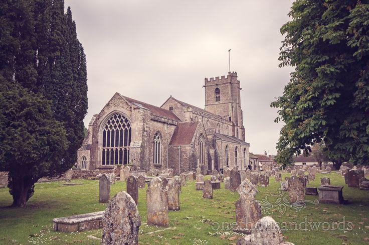 Lady St. Mary Church, Wareham, Dorset on wedding morning. Photography by one thousand words wedding photographers