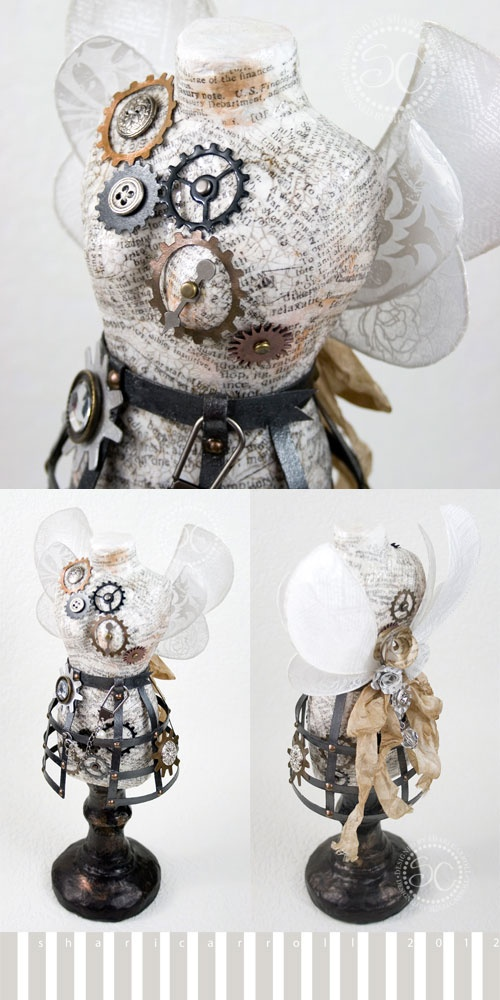 Inspiration steampunk pinterest dress form altered for Steampunk arts and crafts