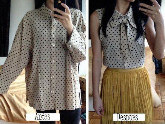 Como transformar una camisa en blusa