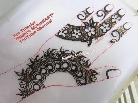 Gulf Style Floral Strip Henna Mehndi Design Tutorial - YouTube