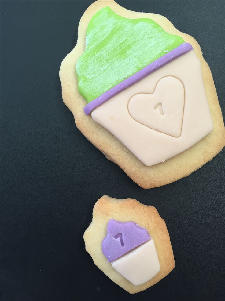 Fondant covered sugar cookies
