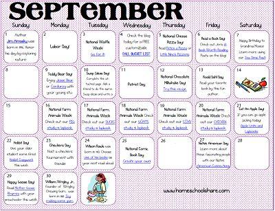 September Make the Days Count Calendar