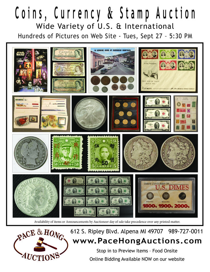 Coin, Currency & Stamp Auction - U.S. & International  (281 Lots) by…
