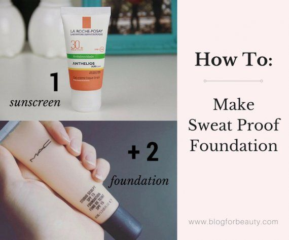 Here's a quick makeup trick on how to make sweat proof foundation. Make your own sweat proof foundation to last the heat, humidity and the gym.