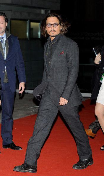 "Johnny Depp attends ""The Tourist premiere at Palacio de los Deportes on December 16, 2010 in Madrid, Spain."
