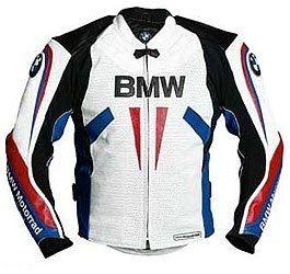 MEN'S BIKER LEATHER JACKET, CUSTOM HANDMADE BMW JACKET - Outerwear